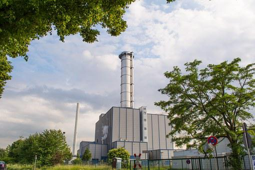 Power Station, Chimney, Metal, Industry, Power, Station