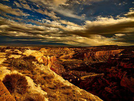 Colorado, Mountains, Sunset, Sky, Clouds, Plateau