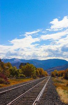 Railroad Track, Mountains, Colorado, Rocky Mountains