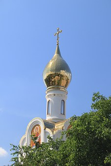 Moldova, Transnistria, Tiraspol, Square, Tower, Cross