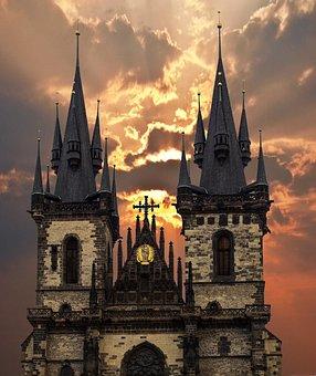Prague, Churches, Czech Republic, Historic Center