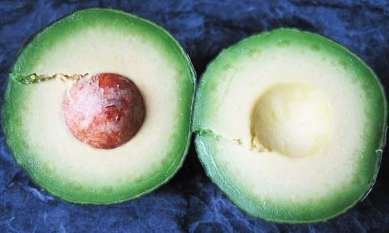 Avocado, Cross Section, Pulp, Healthy, Vegetables, Food