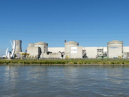 France, Rhône, River, Nuclear Power Plant, Power Plant