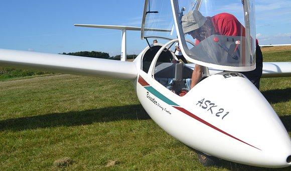 Glider, Aviation, Pilot, Flight, Cockpit, Gliding