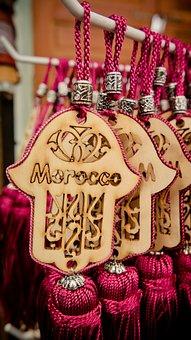 Fatma's Hand, Morocco, Keychain, Mitbringsel, Hand