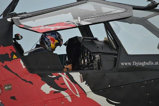 Helicopter, Pilot, Red-bull, Aircraft, Cockpit, Flight