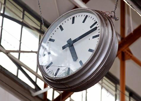 Time, Clock, Defect, Showing, Industry, Factory Hall