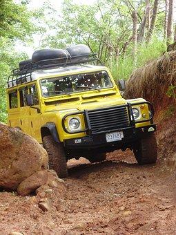 Landrover, Land Rover, Rock, Dirt Road, Tough