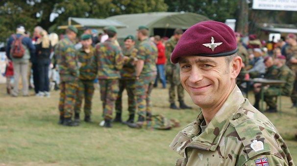English Soldier, Laugh, Tough, Red Beret, Commemoration