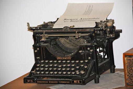 Typewriter, Writing, Vintage, Type, Letter