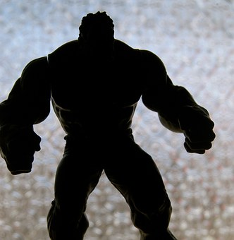 Hulk, Muscles, Toy, Silhouette, Muscular, Male
