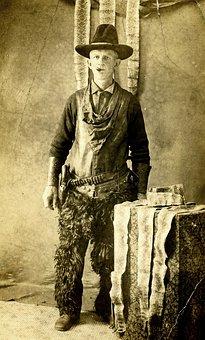 Snake, Hunter, Man, Tough, Cowboy, Vintage, Chaps