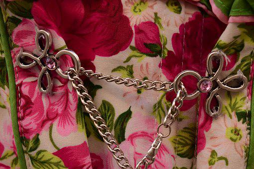 Dirndl, Chain, Close, Metal, Jewellery, Tradition