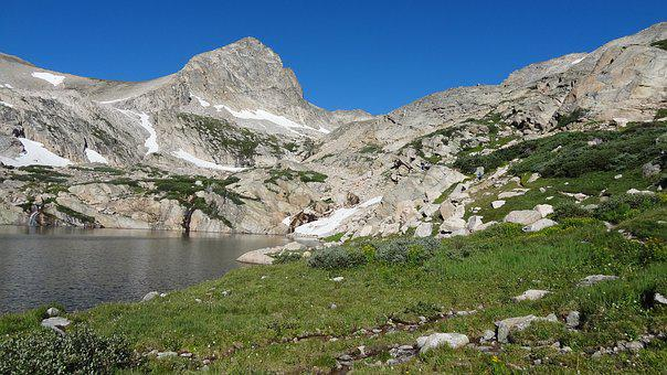 Mount Toll, Colorado Rockies, Blue Lake