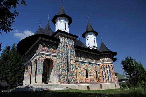 Church, Neamt, Moldova, Painting, Mural