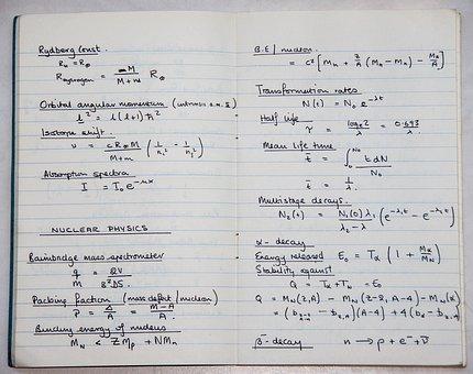 School, Book, Science, Physics, Nuclear, Maths, Formula