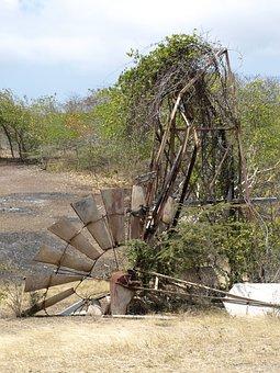 Windmill, Mill, Windräder, Windmills, Old, Collapsed