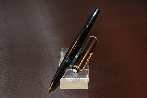 Fountain-pen, Pen, Write, Author, Writing, Gold, Ink