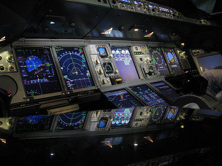 Cockpit, Aircraft, A380, Fly, Airbus, Interior, Pilot