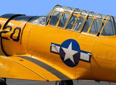 Vintage Airplane, Air Show, Military, Nostalgia, Retro