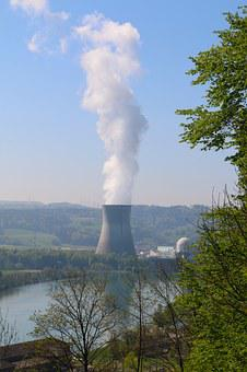 Landscape, River, Nuclear Power Plant, Cooling Tower