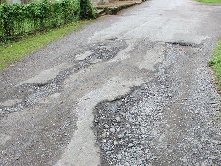 Road, Damage, Repair, Danger, Broken, Accident, Traffic