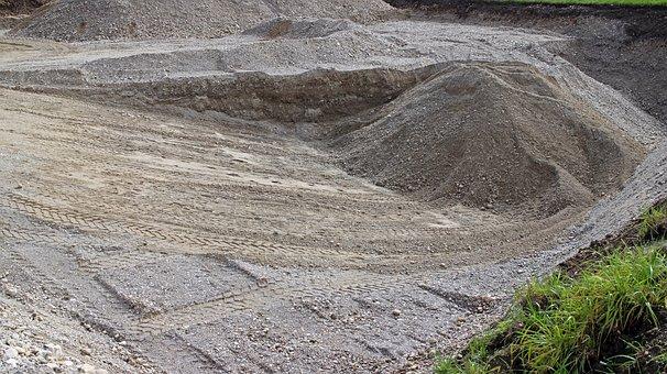 Sand, Pit, Sandpit, Material, Road Construction