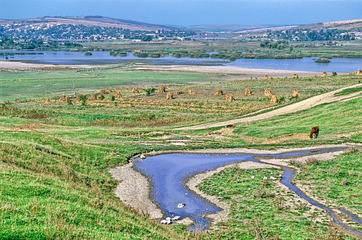 Moldova, Landscape, Scenic, Stream, Water, Horse, River