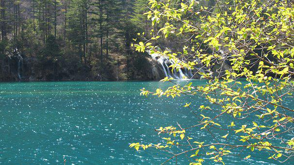 Save, Spring, Jiuzhaigou, Sea, Background, Properties