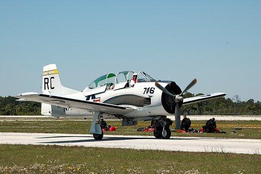 Stunt Plane, Air Show, Vintage Aircraft, Aviation, Show