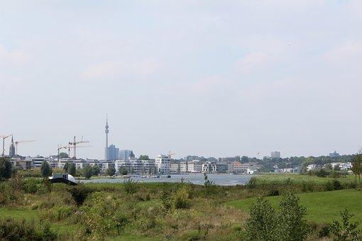 Dortmund, Authority, Hörde, Phoenix Lake, Skyline