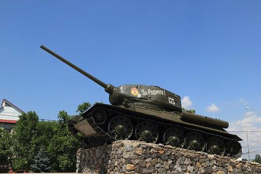 Moldova, Transnistria, Tiraspol, Square, Tank, Memorial