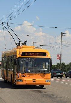 Moldova, Transnistria, Trolley, Bus, Public, Transport