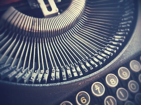 Letters, Typewriter, Vintage, Hipster, Antique