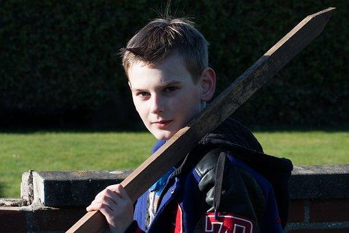 Boy, Tough, Stick, Teen, Watch, Outdoor, Young, Cool