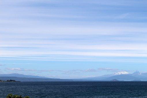 Lake, Taupo, New Zealand, Nature, Water, Summer
