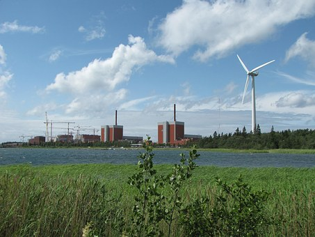 Nuclear Power Plant, Wind Power, Renewable Energy