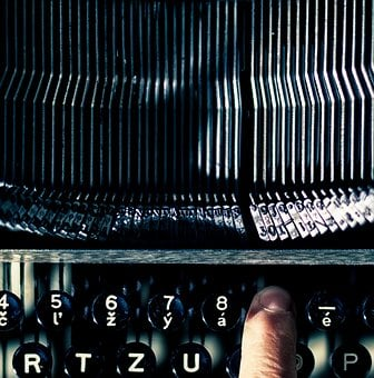 Typewriter, Finger, Old, Vintage, Hand, Writing, Writer