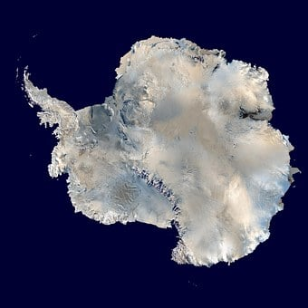 Antarctica, South Pole, Continent, Aerial View