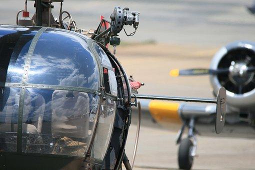 Alouette Iii, Helicopter, Windows, Cockpit