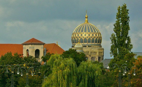 Berlin, City View, Synagogue, Building, Architecture