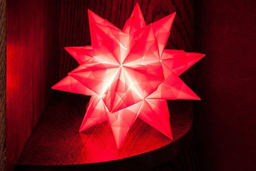 Poinsettia, Atmospheric, Festive, Light, Origami