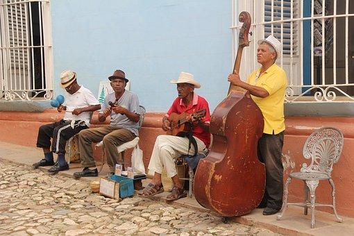 Salsa, Trinidad, Cuba, Music, Street, Band