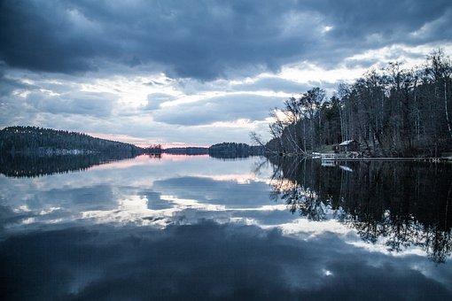 Sunset, Lake, Beautiful, Water, Sky, Nature, Landscape