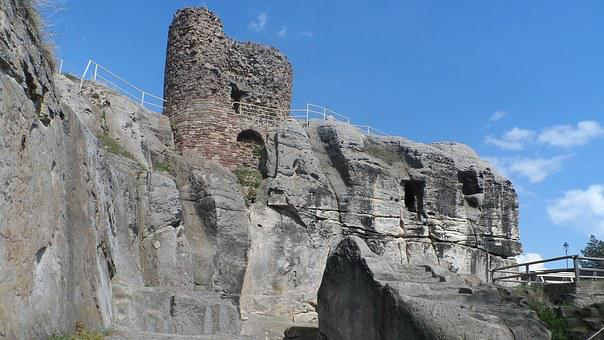 Castle, Cave, Regenstein, Blankenburg In The Harz