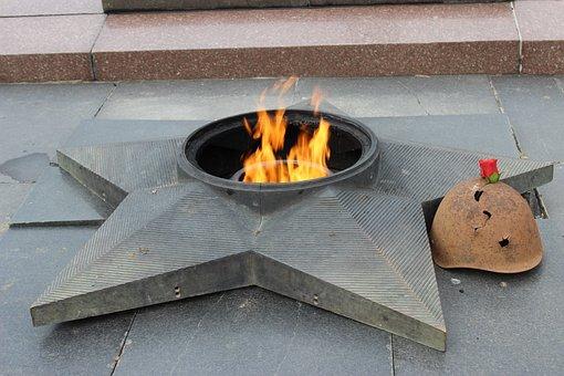 Eternal, Fire, Russia, Stalingrad Metro Station