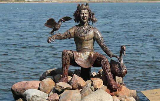 Statue, Figure, Bronze, Njörðr, Nagineni, Nioerdr