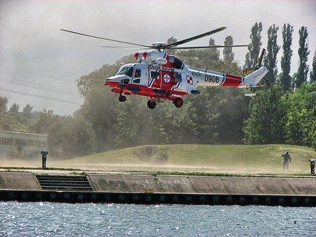 Helicopter, świnoujście, Tech, Flight, Landing