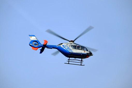 Helicopter, Police Helicopter, Police, Fly, Aircraft