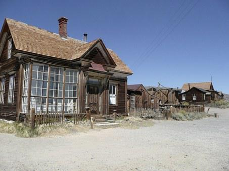 Bodie, Ghost Town, California, Usa, Gold Mine, Mining